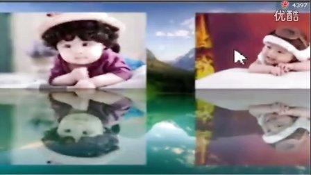东方升起视频 会声会影基础《标题、素材的倒影制作》