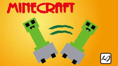 【阿飘日常】Minecraft tp 苦力怕搭矿车!