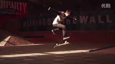 【滑板动作赏析】瓮楠_Fakie 360 Flip.