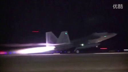 从美国起飞部署到欧洲的整个F-22中队