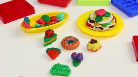 乐多多 彩泥 甜品工厂 做手工 做生日蛋糕 试玩