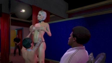 波哥解说GTA5侠盗猎车5:脱衣舞馆的秘密 与脱衣舞娘亲密接触 与 奇怪君 坑爹哥 老白 CH明明 小橙子 鸡哥