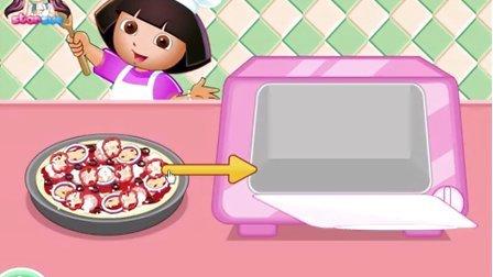 爱探险的朵拉系列游戏之朵拉做披萨小主公解说