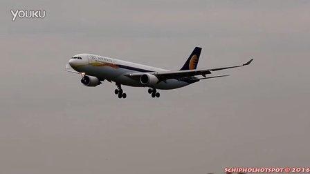 捷特航空A330史基浦机场着陆