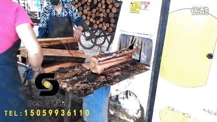 福建长汀顺意木工机械 圆木多片锯 方木多片锯 木材加工小套多片锯设备 圆木多片锯视频