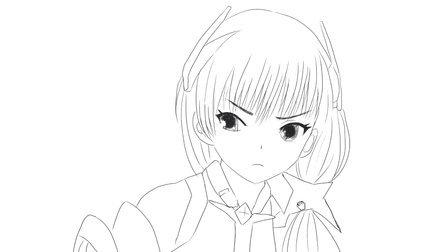 [小林简笔画]绘画动画片《乐园追放》中的女主角安吉拉·巴尔扎克卡通动漫简笔画教程