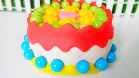 白雪玩具屋 2016 彩色糖果花朵蛋糕