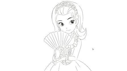 j[小林简笔画]绘画动画片《小公主苏菲亚》中的安柏安布尔卡通动漫简笔画教程