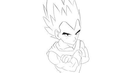 [小林简笔画]绘画动画片《七龙珠》中的达尔贝吉塔卡通动漫简笔画教程