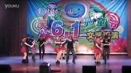 2016年武汉新洲区章林幼儿园六一文艺汇演03.水兵舞