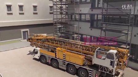 起重机工作流程三维动画 施工模拟动画