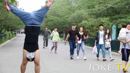 中国街头爆笑惊现世界上最持久的倒立 24