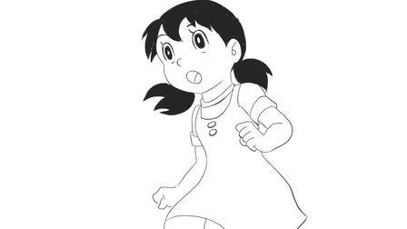 [小林简笔画]绘画哆啦a梦梦幻王国中的可爱静香卡通动漫简笔画教程