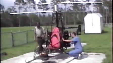 自制共轴直升机平稳试飞