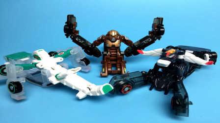 【魔力玩具学校】猿人公爵 魔幻车神(开箱试玩测评)PK勇武猛犸泰坦巨人悍角黄牛 自动变形玩具车机器人爆裂飞车机车兽魂