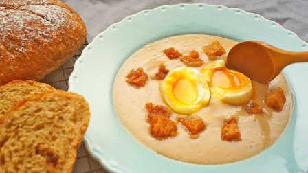 用面包来做汤+溏心蛋【绵羊料理】