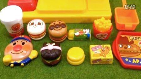 面包超人汉堡薯条售卖机玩具 小猪佩奇健达奇趣蛋惊喜蛋玩具蛋 粉红猪小妹熊出没之朵拉历险记大头儿子小头爸爸亲子游戏
