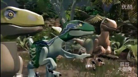 乐高侏罗纪世界手机版第1期 迅猛龙猎捕小猪★恐龙积木玩具游戏
