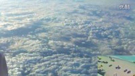 在飞机上看白云是什么样的