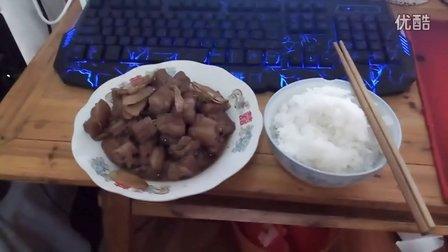 【电饭锅红糖烧肉】宅男的饭5