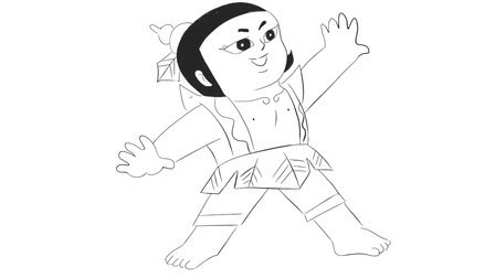[小林简笔画]绘画儿童早教动画片《葫芦兄弟》中的可爱的葫芦娃卡通动漫简笔画教程
