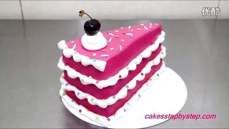 粉色佳人翻糖生日蛋糕