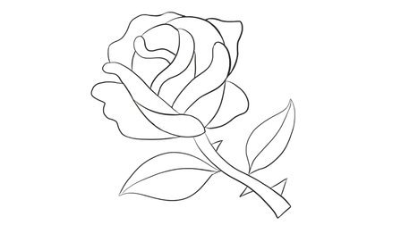 [小林简笔画]如何绘画儿童早教亲子简笔画中的漂亮的玫瑰花卡通动漫简笔画教程