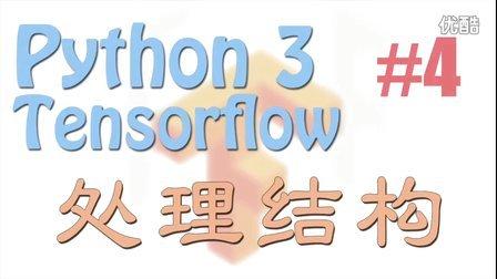 莫烦 Tensorflow 4 处理结构 (神经网络 教学教程tutorial)