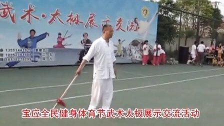 宝应全民健身体育节武术太极展示:刘喜春《少林梅花枪》