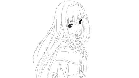 [小林简笔画]如何绘画萌萌的动漫女生人物卡通动漫简笔画教程