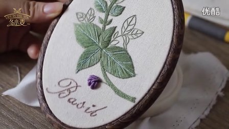 冬小麦欧式刺绣-丁香:裂线绣