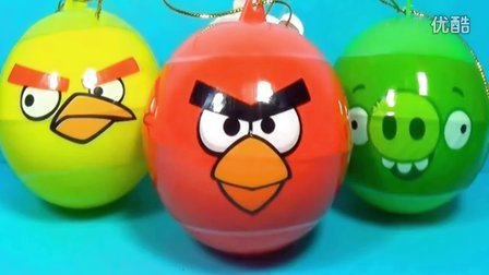 愤怒的小鸟3惊喜蛋 健达奇趣蛋出奇蛋玩具蛋拆蛋视频 面包超人棉花糖玩具小猪佩奇熊出