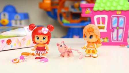 pinypon 糖果系列 换装公主玩具 橙子公主 草莓甜心 装扮试玩