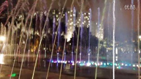 中国广东广州天河区花城广场音乐喷泉2