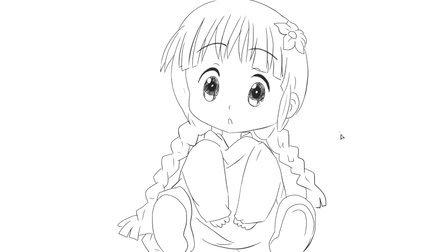 [小林简笔画]如何绘画呆萌可爱的小女孩卡通动漫简笔画教程