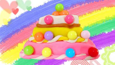 白雪玩具屋 2016 彩色糖果三层蛋糕 彩色糖果三层蛋糕