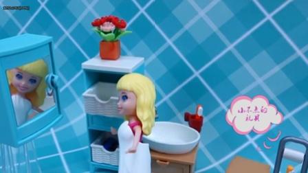 给芭比娃娃洗澡!芭比娃娃豪华浴室浴缸洗手间玩具组套装组装展示粉红猪小妹 奥特曼 爱探险的朵拉 面包超人 海绵宝宝 天线宝宝 火影忍者 熊出没 海贼王 凱蒂貓