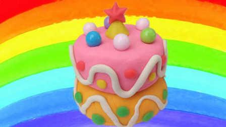 白雪玩具屋 2016 彩色糖果星星双层蛋糕