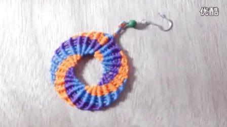DIY耳环 手编绳工艺制作 个性自制手工艺饰品 漂亮制作视频教程_标清