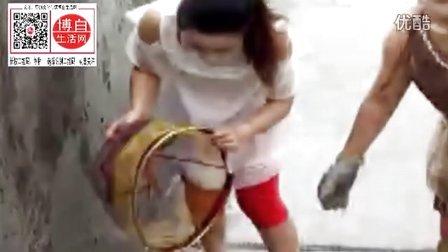 博白新田镇马田2o16/7/4号洪水中的美女却在干什么?