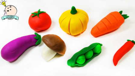 彩泥版 蔬菜切切看 橡皮泥食物 粘土 培乐多 076