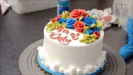 装饰教程之百花齐日蛋糕