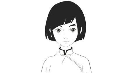 [小林简笔画]绘画动画电影《大鱼海棠》中女主角椿卡通动漫形象