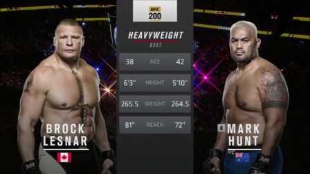 UFC200 WWE布洛克莱斯纳 vs马克亨特(中文解说)