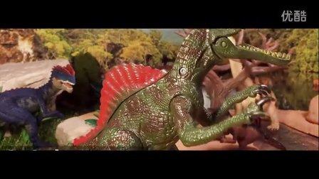 恐龙玩具模型世界 彩泥蛋糕制作小机器 霸王龙三角恋迅猛龙侏罗纪公园