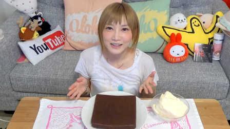 【木下大胃王】香醇巧克力配上冰凉冰激凌的超棒自制布朗尼蛋糕 @柚子木字幕组