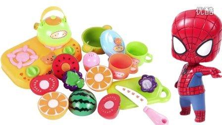 小猪佩奇猪猪侠水果切切看!水果蔬菜切切乐,可可小爱亲子过家家玩具视频,培乐多橡皮泥彩泥食玩游戏