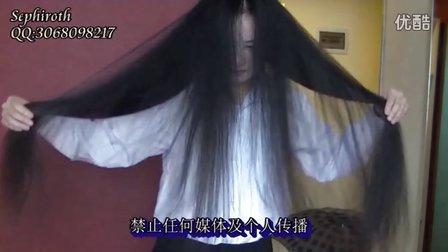 062 眼神忧郁的女孩剃光90公分长发