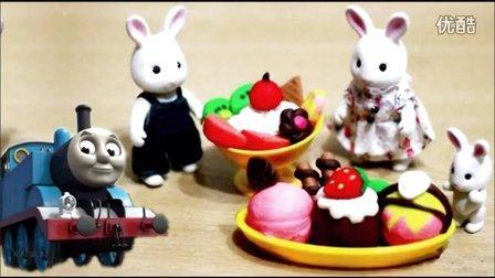 托马斯动感火车家族变形警车珀利!我的汤姆猫短片和老鼠,小猪佩奇可可小爱过家家,小马宝莉食玩玩具