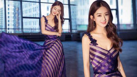 赵丽颖穿纱初裙仙气足  低胸装秀性感